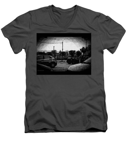 Men's V-Neck T-Shirt featuring the photograph Parking by Mimulux patricia no No
