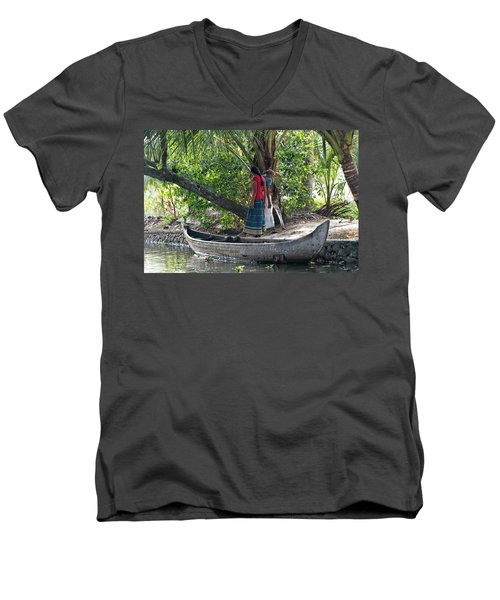 Parking Spot Men's V-Neck T-Shirt by Marion Galt