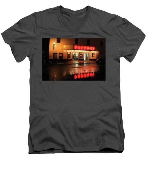 Parkway Night Men's V-Neck T-Shirt