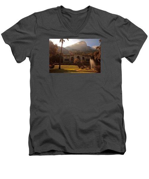 Parque De Lague Men's V-Neck T-Shirt by Mark Nowoslawski