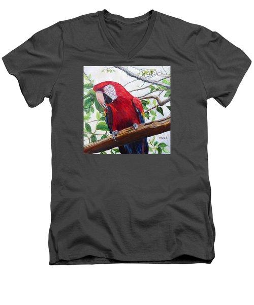 Parrot Portrait Men's V-Neck T-Shirt
