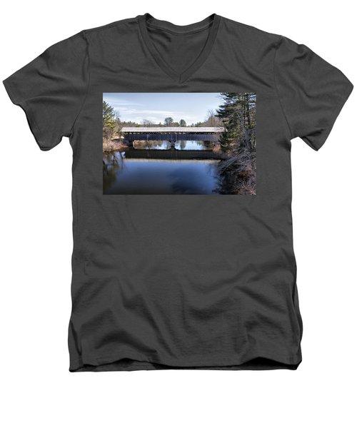 Parsonfield Porter Covered Bridge Men's V-Neck T-Shirt