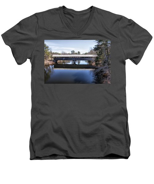 Parsonfield Porter Covered Bridge Men's V-Neck T-Shirt