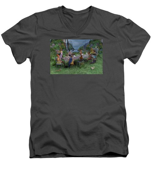 Particularities  Men's V-Neck T-Shirt