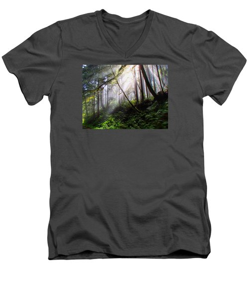Parting Of The Mist Men's V-Neck T-Shirt
