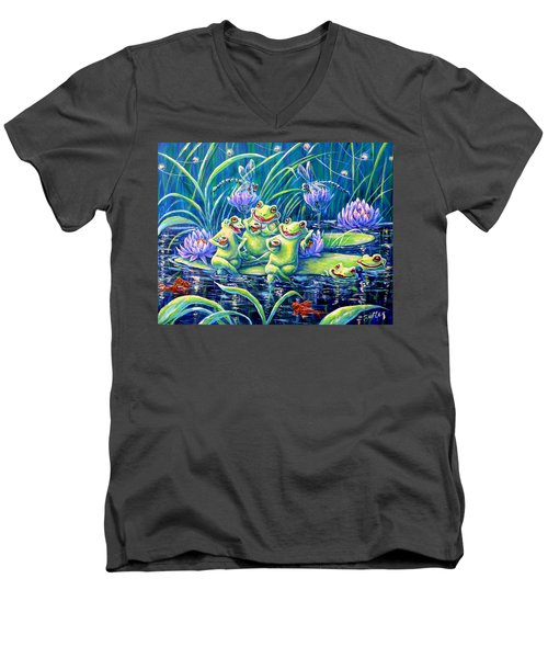 Party At The Pad Men's V-Neck T-Shirt by Gail Butler