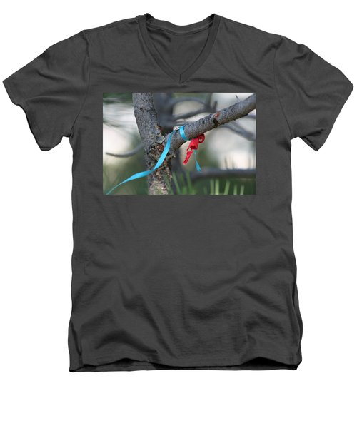 Party's Over Men's V-Neck T-Shirt