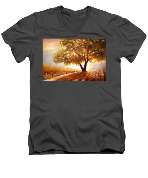 Paso Robles Golden Oak Men's V-Neck T-Shirt