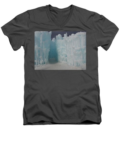 Passageway In The Ice Castle Men's V-Neck T-Shirt by Catherine Gagne