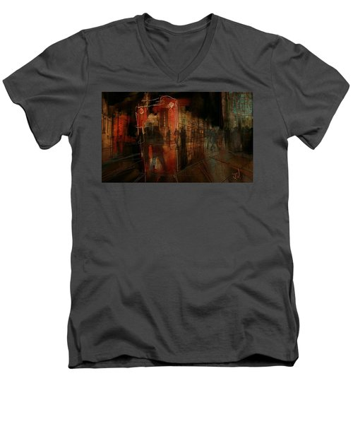 Passers In The Night Men's V-Neck T-Shirt by Jim Vance