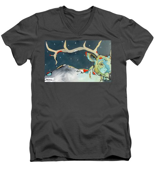 Passing In The Night Men's V-Neck T-Shirt