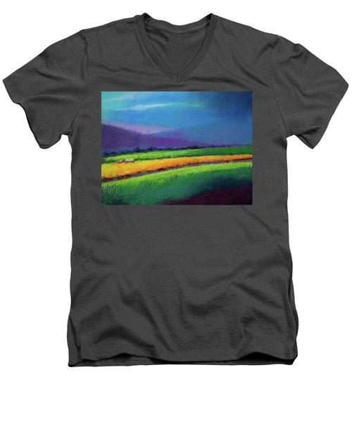 Passing Rain Men's V-Neck T-Shirt by David Patterson