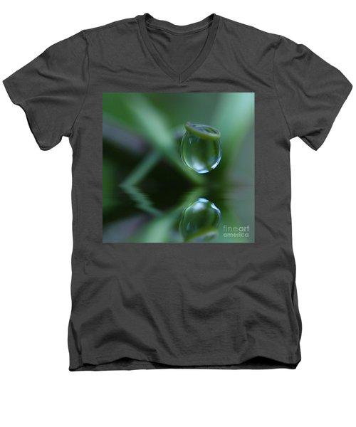 Passion Drop Men's V-Neck T-Shirt by Kym Clarke
