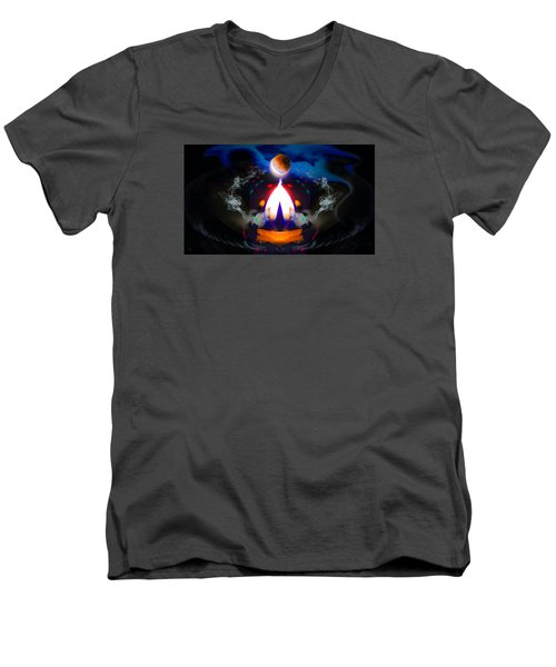 Passion Eclipsed Men's V-Neck T-Shirt by Glenn Feron