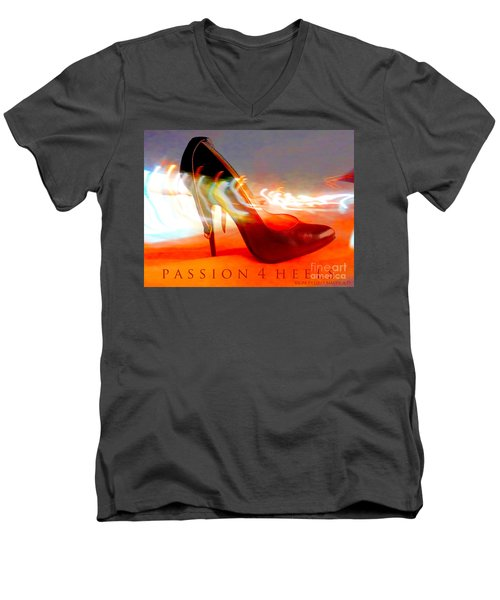 Men's V-Neck T-Shirt featuring the photograph Passion For Heels by Don Pedro De Gracia