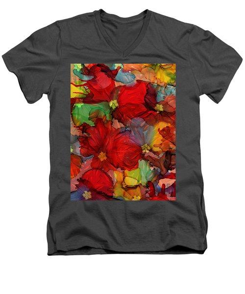Passion Of Flowers Men's V-Neck T-Shirt