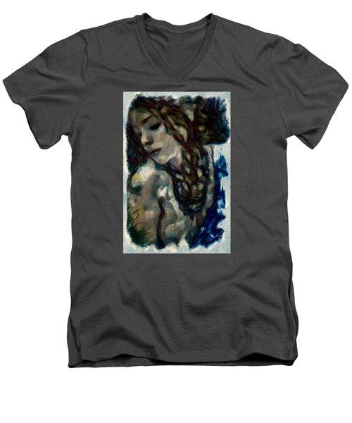 Passionate Men's V-Neck T-Shirt by Gun Legler