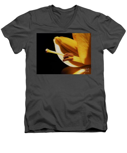 Passionate Yellow Lily Men's V-Neck T-Shirt