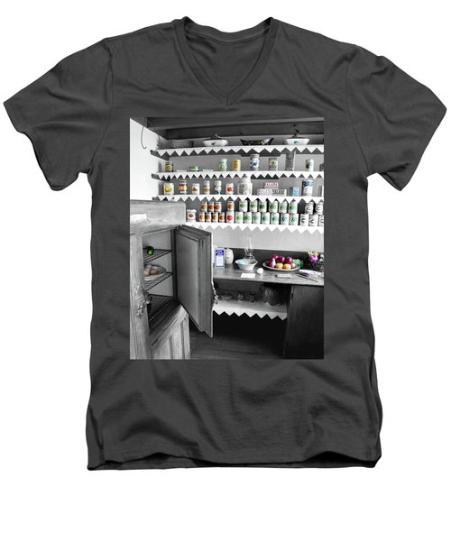 Men's V-Neck T-Shirt featuring the photograph Past In The Present by Greg Fortier