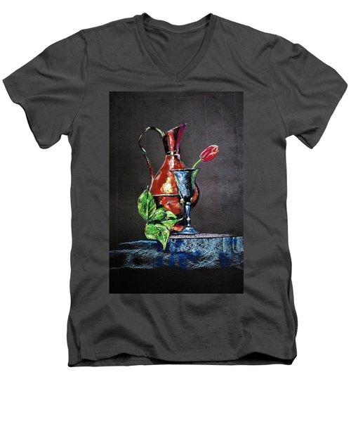 Pastel Glow Men's V-Neck T-Shirt