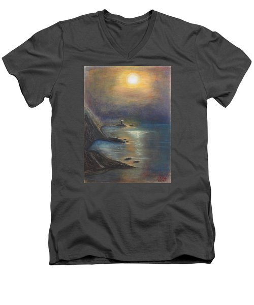 Pastel Msc 002 Men's V-Neck T-Shirt