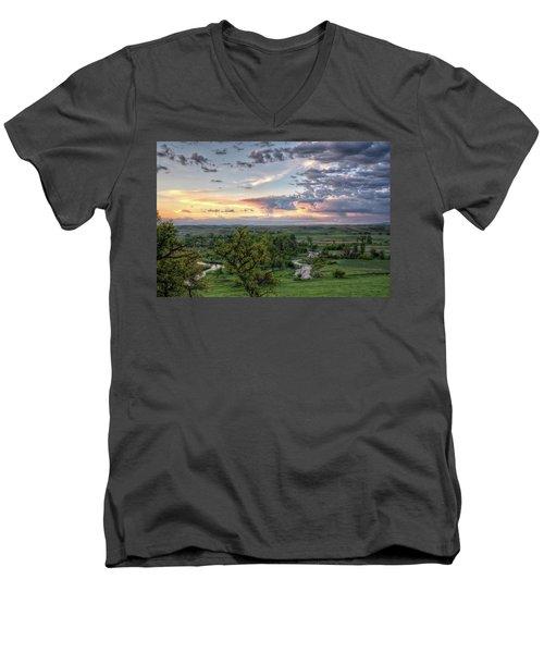 Pastel Spring Morning Men's V-Neck T-Shirt