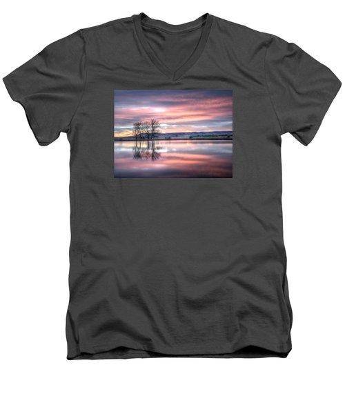 Pastel Sunrise Men's V-Neck T-Shirt by Fiskr Larsen