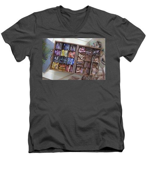 Pastels Men's V-Neck T-Shirt