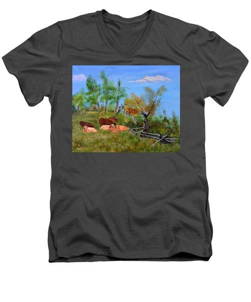 Pasteurized Men's V-Neck T-Shirt