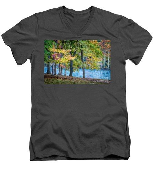 Pastoral River Men's V-Neck T-Shirt