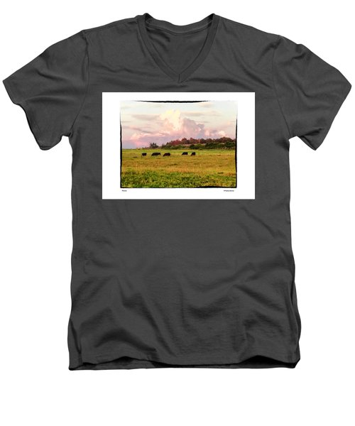 Men's V-Neck T-Shirt featuring the photograph Pasture by R Thomas Berner