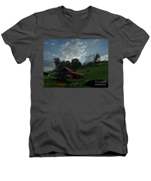 Pasture Under Elements Men's V-Neck T-Shirt
