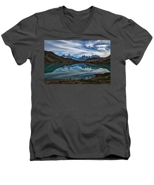 Patagonia Lake Reflection - Chile Men's V-Neck T-Shirt