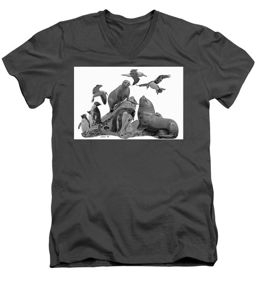 Patagonian Wildlife Men's V-Neck T-Shirt
