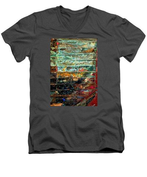 Patchworks 1 Men's V-Neck T-Shirt