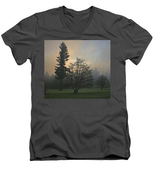 Patchy Morning Fog Men's V-Neck T-Shirt