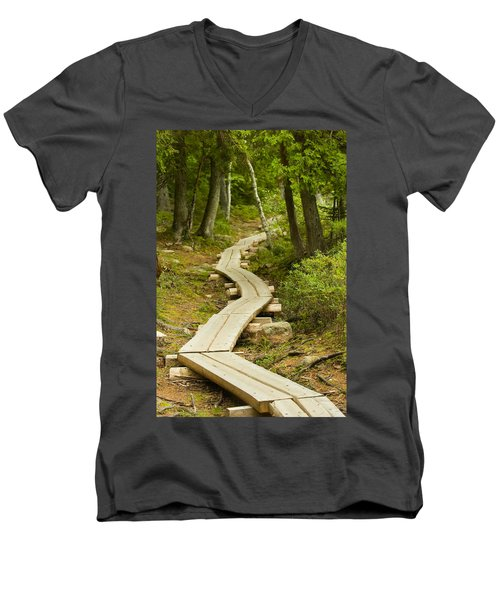 Path Into Unknown Men's V-Neck T-Shirt by Sebastian Musial