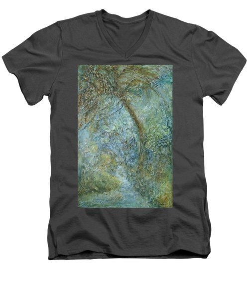 Path Of Invitation Men's V-Neck T-Shirt by Roberta Rotunda