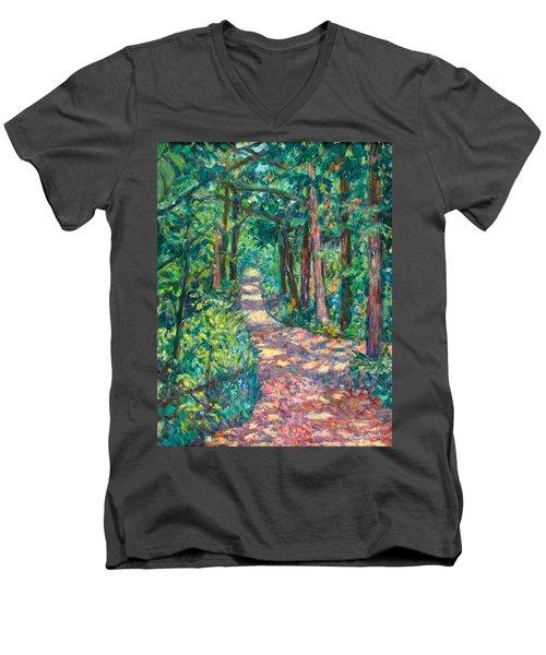 Path On Sharp Top Men's V-Neck T-Shirt