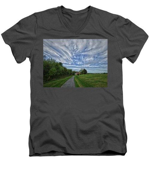 Path Men's V-Neck T-Shirt by Robert Geary