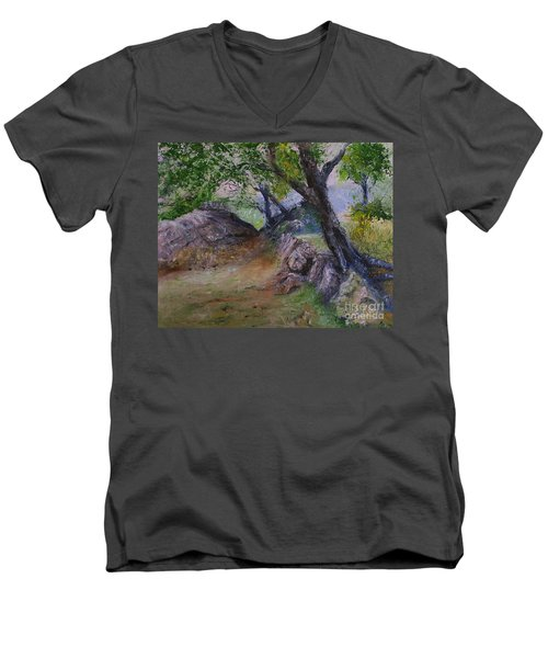 Path To Nowhere Men's V-Neck T-Shirt