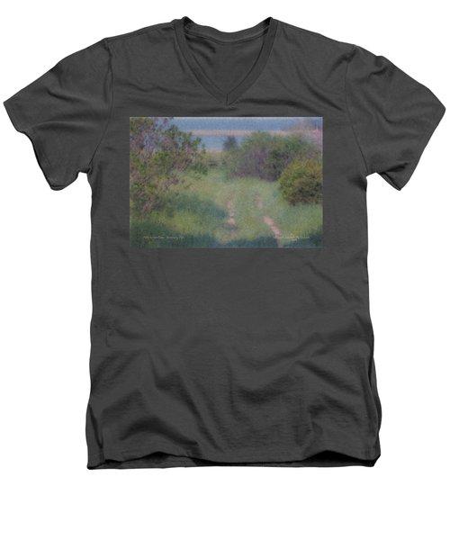 Path To The Sea - Duxbury Ma Men's V-Neck T-Shirt