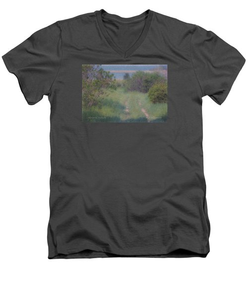 Path To The Sea - Duxbury Ma Men's V-Neck T-Shirt