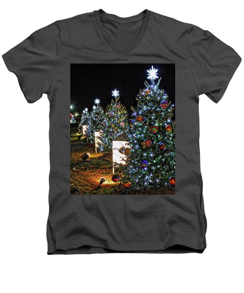 Men's V-Neck T-Shirt featuring the photograph Pathway Of Peace by Suzanne Stout