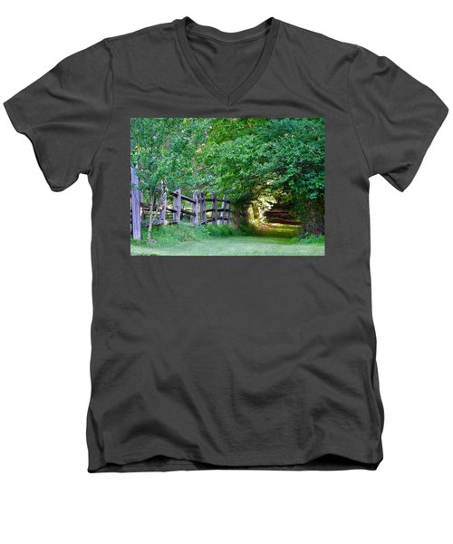 Pathway To A Sunny Summer Morning  Men's V-Neck T-Shirt