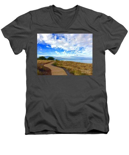 Pathway To Heaven Men's V-Neck T-Shirt