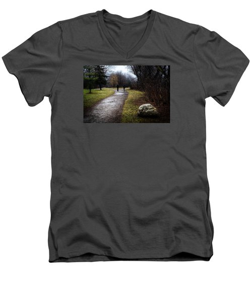 Pathway To Nowhere Men's V-Neck T-Shirt by Celso Bressan