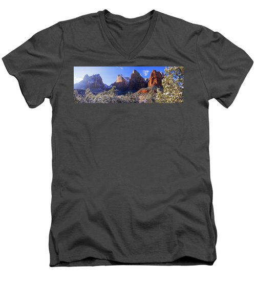 Men's V-Neck T-Shirt featuring the photograph Patriarchs by Chad Dutson