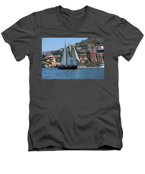 Men's V-Neck T-Shirt featuring the photograph Patricia Belle 01 by Jim Walls PhotoArtist