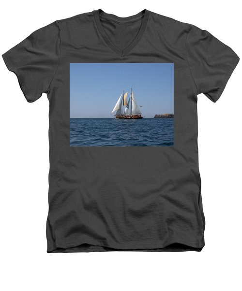 Men's V-Neck T-Shirt featuring the photograph Patricia Belle 02 by Jim Walls PhotoArtist